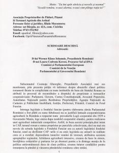 COZMUTA Ghe - prima pag din scrisoarea deschisa