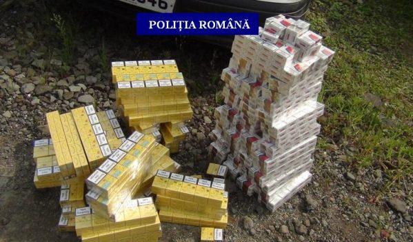 Poliţiştii din Baia Sprie au depistat un autoturism cu 900 de pachete cu ţigări de contrabandă