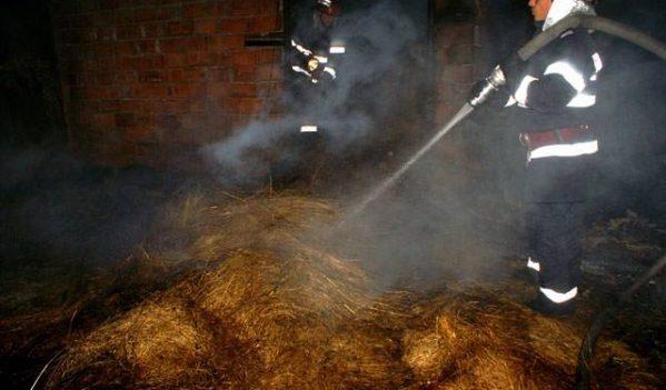 Incendiu stins de pompieri în Borșa
