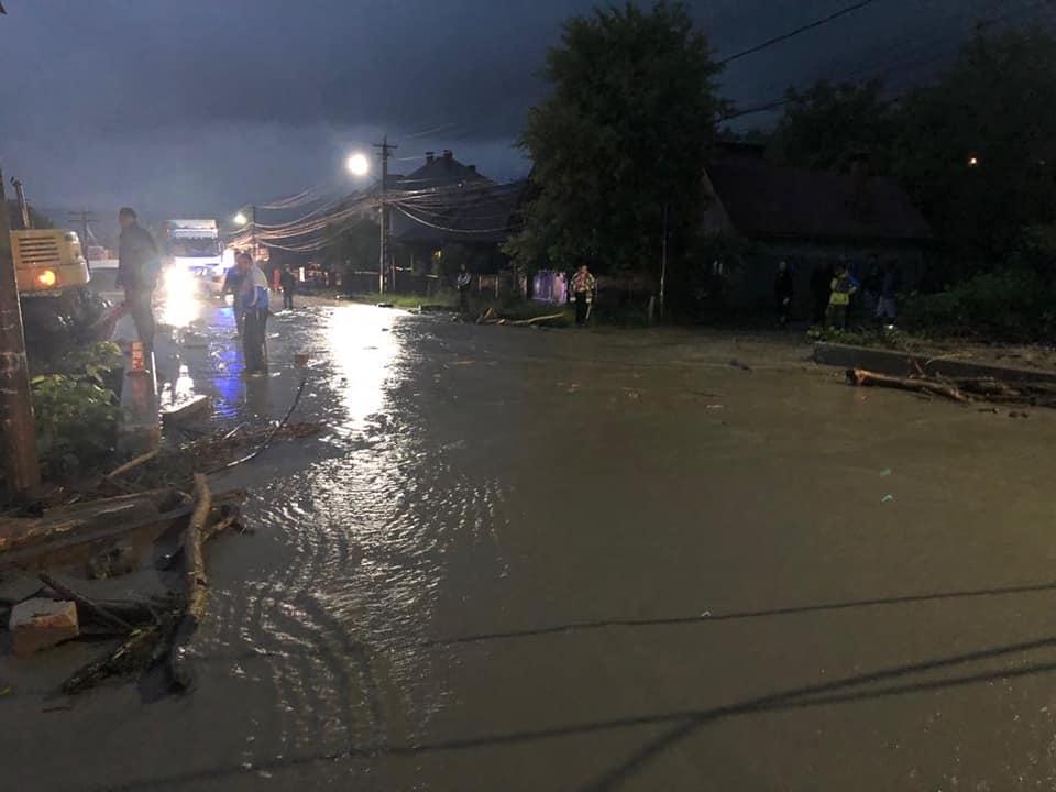 Inundații în Vișeu de Sus