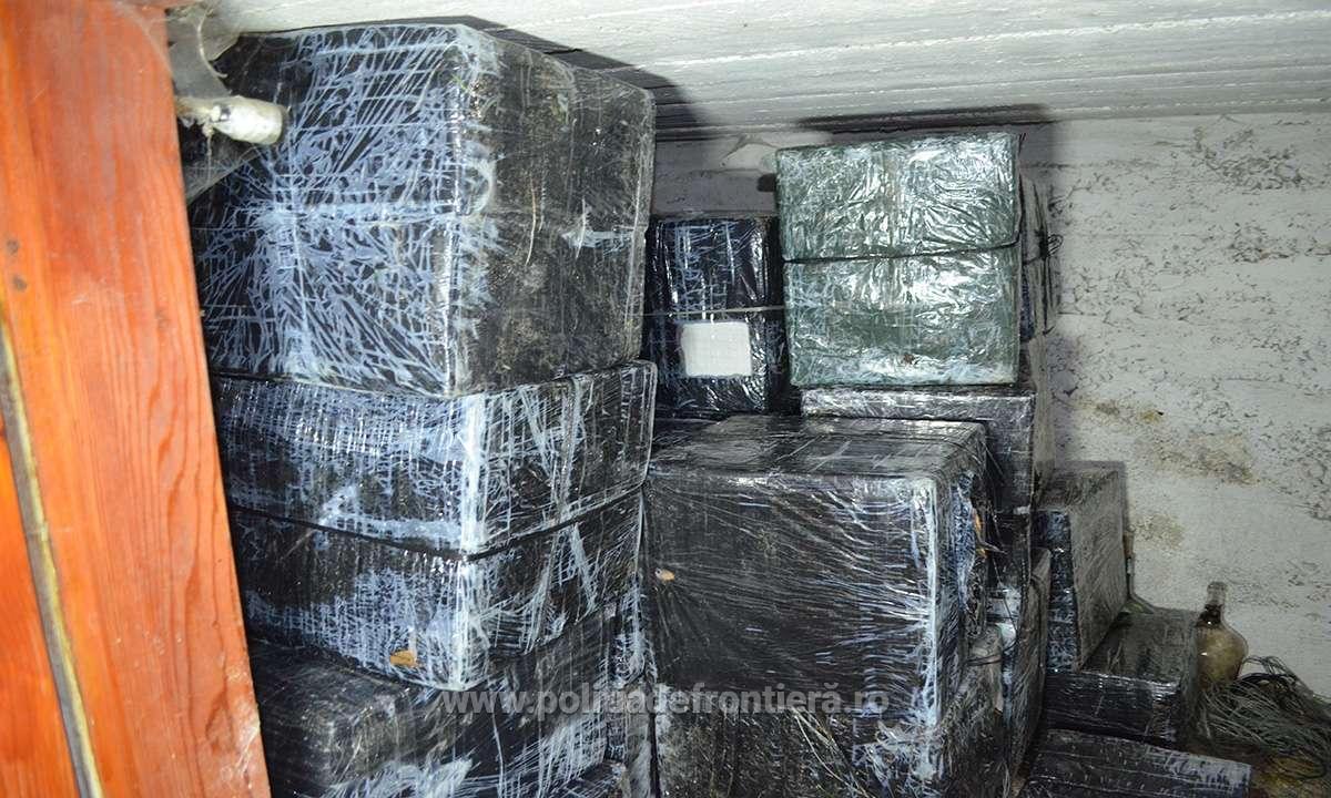 Peste 35.000 de pachete cu ţigări confiscate în urma unei percheziții în Sighetu Marmației