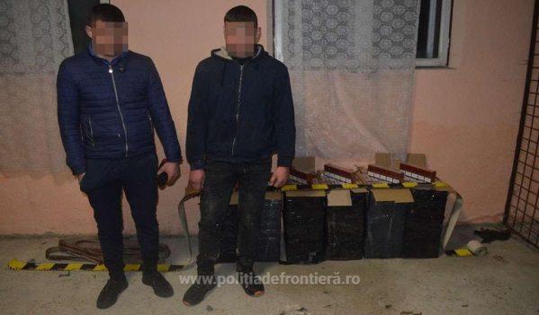 Doi ucraineni și un maramureșean cercetați pentru contrabandă și peste 7.000 pachete cu țigări confiscate