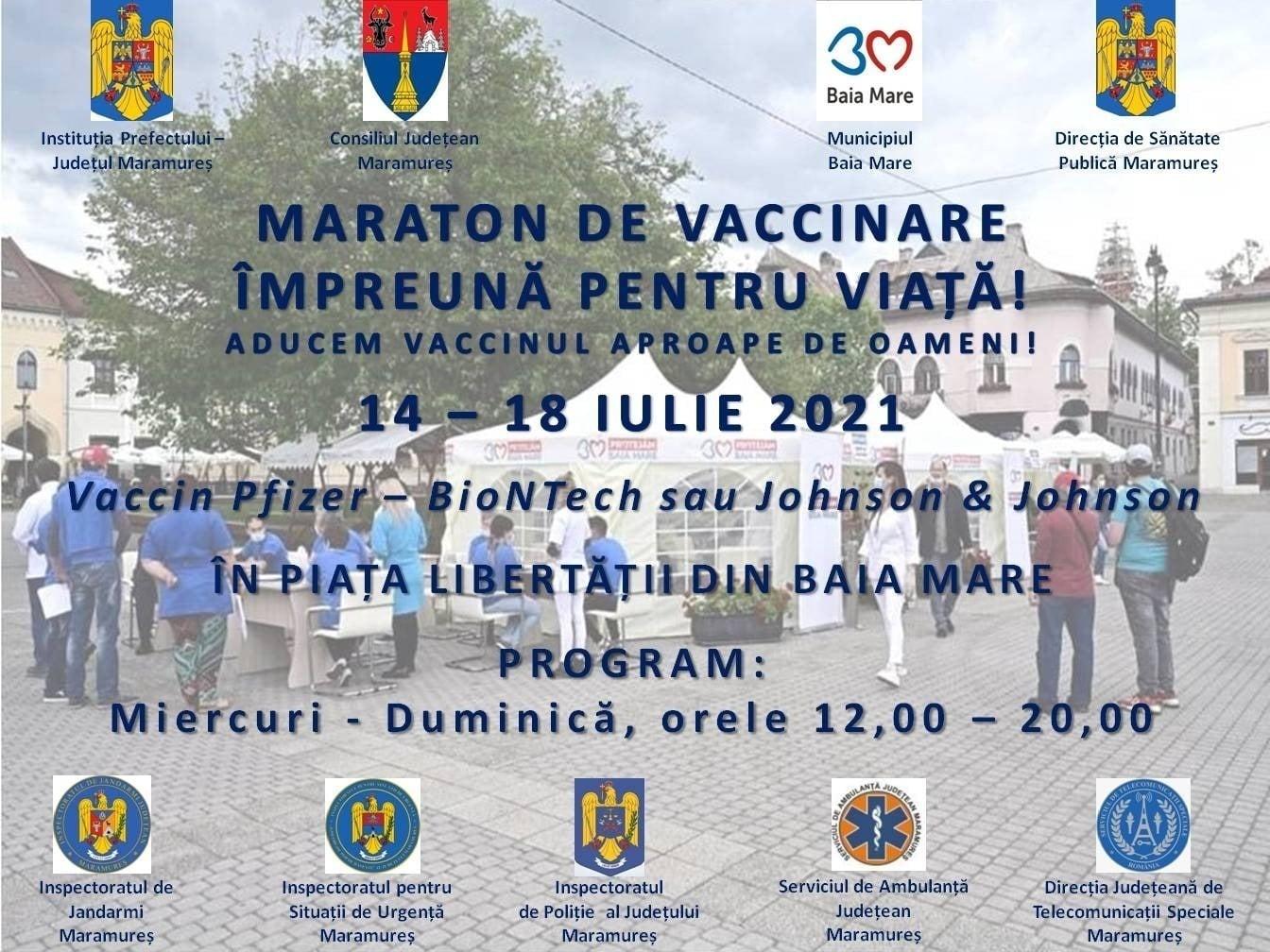 Maraton de vaccinare în Baia Mare