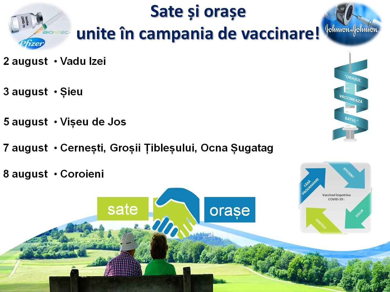 Campania de vaccinare continuă în Maramureș